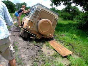 Malawi Land Rover Panne