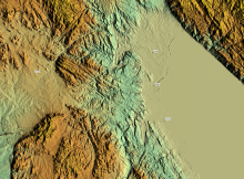 Nord-Malawi, shaded relief