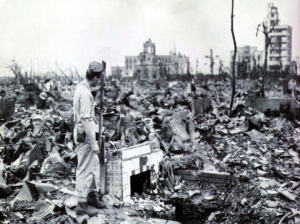 Complete destruction of Hiroshima, Japan on August 1945 by nuclear attack. (Source: www.dw.de)